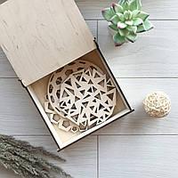 Подставка под горячее из дерева «Модерн» (3 штуки в подарочной коробке из дерева)