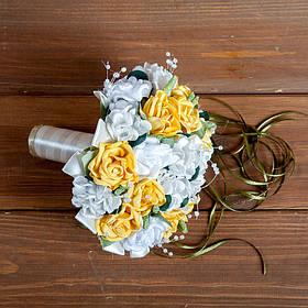 """Букет-дублер на весілля """"Білий Жовтий"""""""