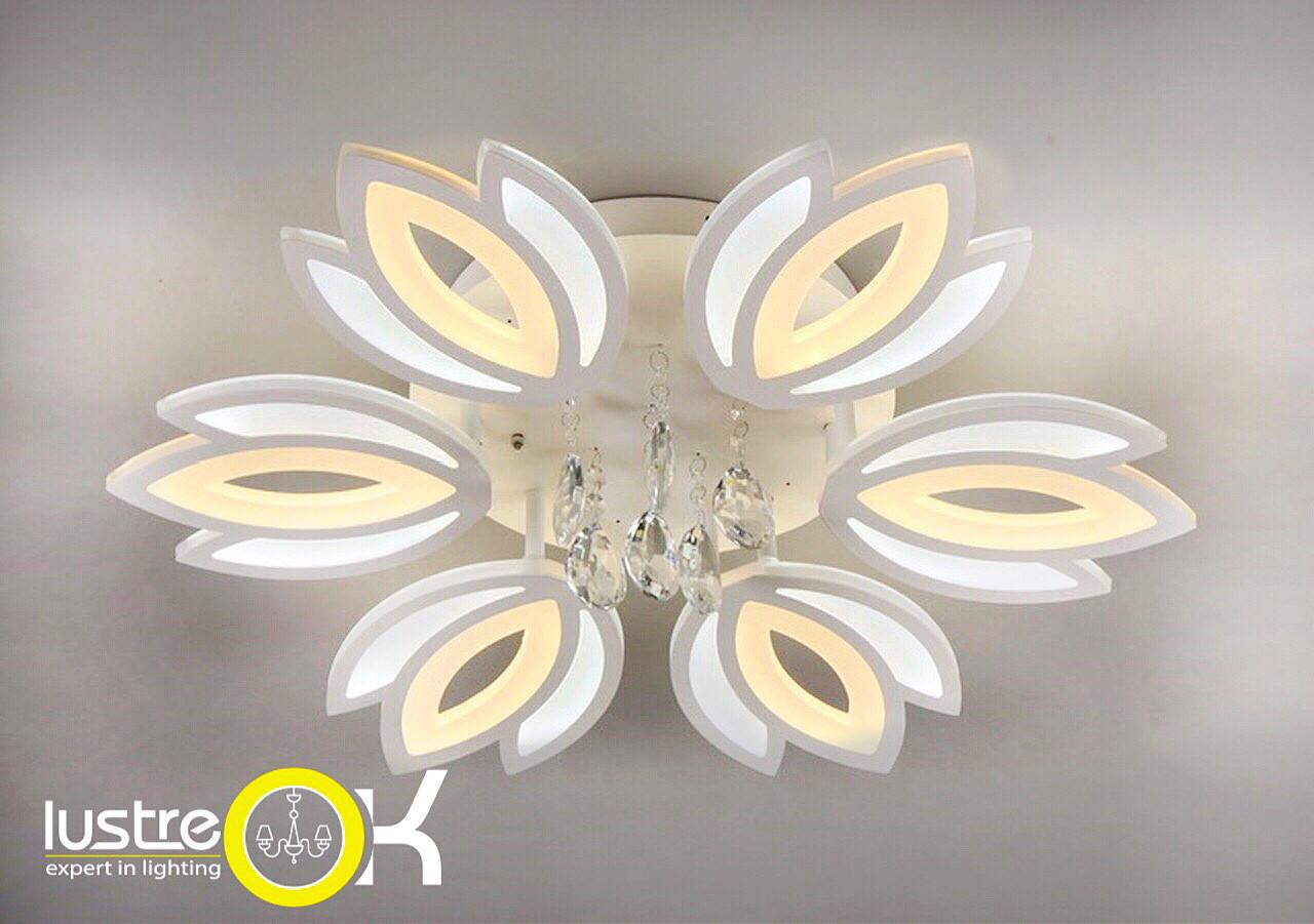 Светодиодная люстра с пультом Акриловая люстра LED  81358/6 Dimmer