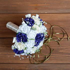 """Букет-дублер на весілля """"Білий Фіолетовий"""""""