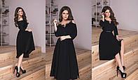 Женское Платье миди с гипюром, фото 1