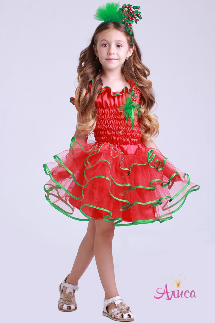 Карнавальный костюм Клюква, Красная смородина для девочки