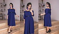 Женское Платье миди с гипюром БАТАЛ