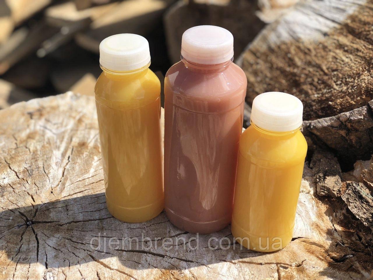 Бутылка пластиковая под соки, смузи и фрешы 200 мл. Доставка по Киеву от 50 штук в упаковке.