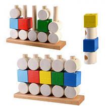 "Развивающая игрушка ""Кубики и цилиндры"" ПР-003"