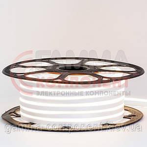 Светодиодный неон 12В белый smd 2835-120 лед/м 6Вт/м, 8*16мм ПВХ. Бухта 25 метров.