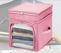 Органайзер для одягу та постільної білизни Рожевий / Органайзер для одежды и постельного белья бамбук Розовый
