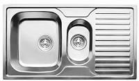 7302 Мойка CRISTAL прямоугольная двойная с полкой, врезная 880x500x180 Decor, фото 1