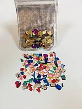 Камушки для дизайна ногтей, микс Цветные