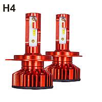Светодиодные LED лампы для фар Head Light  X3 ZES H4 головной свет 80Вт 120000LM