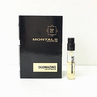 Нишевые французские духи унисекс MONTALE Oudmazing 2мл пробник (Удмазинг)  ОРИГИНАЛ парфюмированная вода
