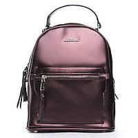 Женская сумка-рюкзак из натуральной кожи 2 в 1 коричневого цвета, фото 1