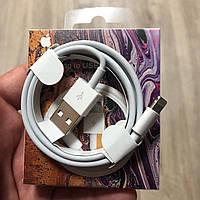 USB кабель Lightning для Iphone MD818ZM/A юсб кабель на айфон и айпад белый
