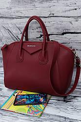 Женская вместительная сумка, реплика Живанши 7001 red.