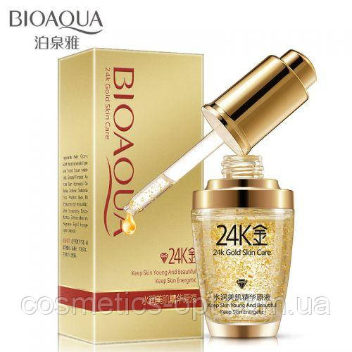 Сыворотка c частичками золота и гиалуроновой кислотой Bioaqua 24k Gold Skin Care
