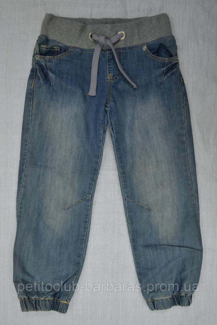 Детские джинсы-джоггеры для девочки на хлопковой подкладке (р.122-152 см) (Quadrifoglio, Польша)