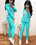 (от 42 до 50 размера) Спортивный женский костюм из двухнитки с молниями vN2930, фото 4