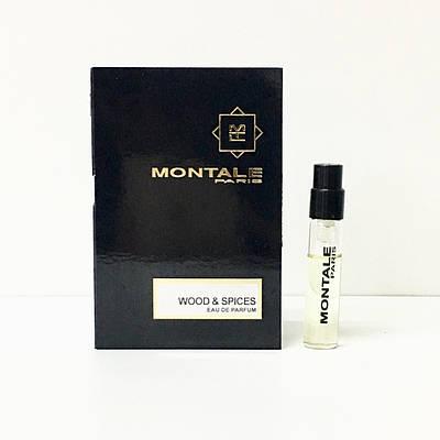MONTALE Wood & Spices 2ml пробник (Монталь Вуд Енд Спайсес / Дерево і Спеції) , денний деревно-пряний аромат