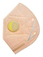 Маска с фильтром многоразовая, нежно-розовая