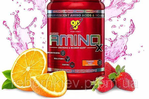 BSN Amino X 435г - strawberry orange