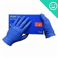 Перчатки Нитрилекс Базик, размер L, 200 шт. Nitrylex Basic Mercator Medical (Poland)