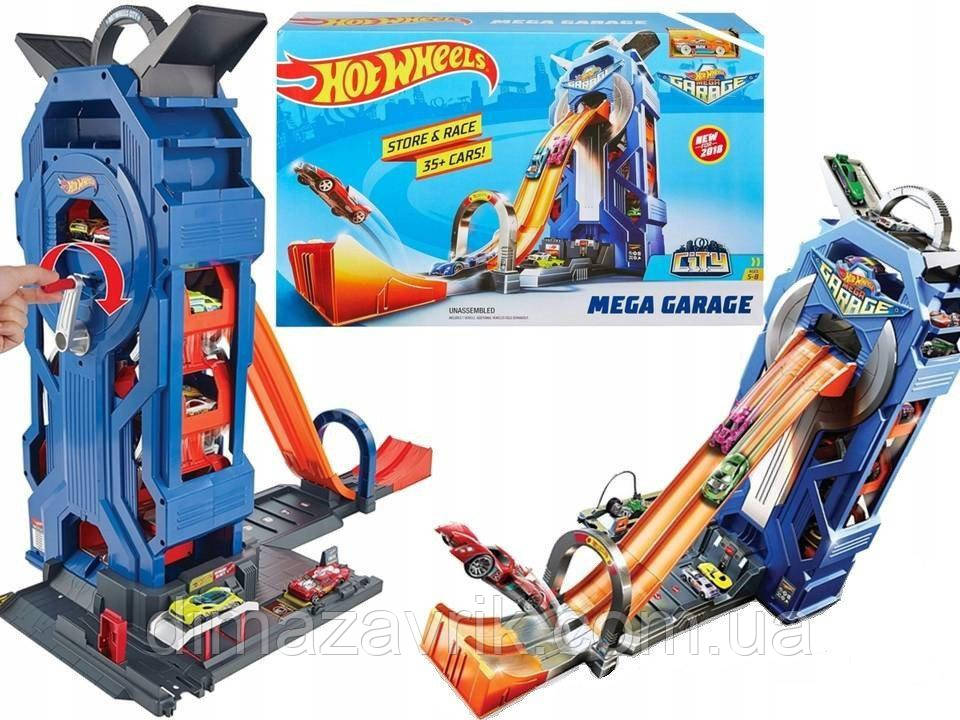 Мега гараж для машинок Hot Wheels FTB68