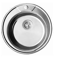 7104 Мойка CRISTAL круглая врезная 490x180 Decor