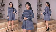 Женское Платье в клетку БАТАЛ