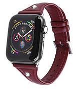 Ремінець HOCO WB05 для Apple Watch Series 4/3/2/1 (38/40 мм) Ocean wave Червоний