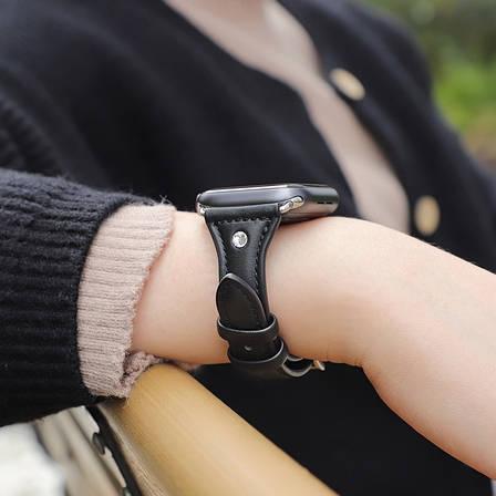 Ремешок HOCO WB05 для Apple Watch Series 4/3/2/1 (38/40 мм) Ocean wave Черный, фото 2