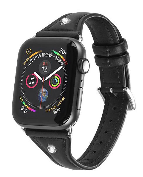 Ремінець HOCO WB05 для Apple Watch Series 4/3/2/1 (38/40 мм) Ocean wave Чорний