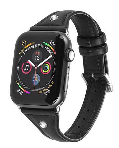 Ремінець HOCO WB05 для Apple Watch Series 4/3/2/1 (38/40 мм) Ocean wave Чорний, фото 2