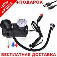 Автомобильный воздушный компрессор Air Compressor 300PSI + зарядный USB - micro USB кабель