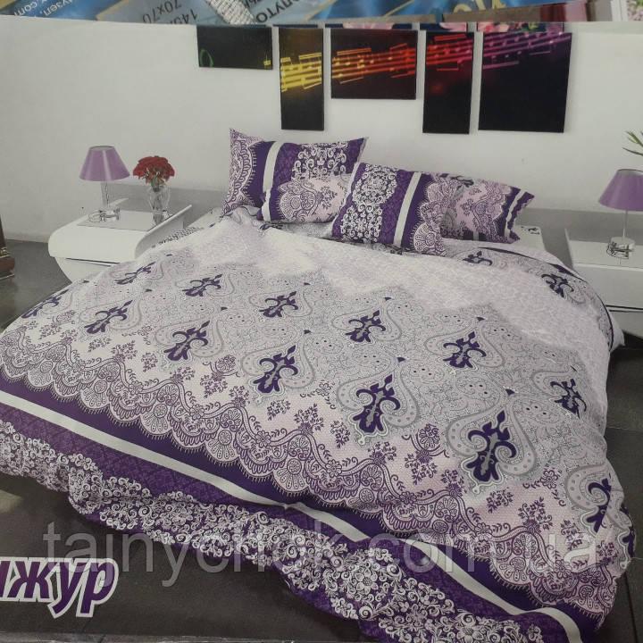 """Полуторное постельное белье """"Бонжур фиолетовый"""""""