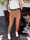 Женские брюки на высокой посадке с накладными карманами vN3184, фото 5