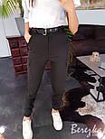 Женские брюки на высокой посадке с накладными карманами vN3184, фото 6