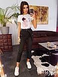Женские штаны джоггеры на каждый день с поясом vN3194, фото 4
