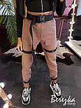 Женские брюки карго с ремешками и накладными карманами vN3200, фото 5