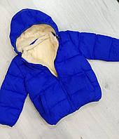 Детская демисезонная куртка с капюшоном для мальчика Размер 90,110,120  на 1-4 года