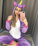 Подарочный набор пижама кигуруми фиолетовый единорог с киндером и киндер шоколадом vN3212, фото 2