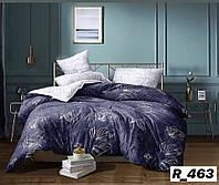 3D Двуспальное постельное белье Ranforce темно-фиолетовое