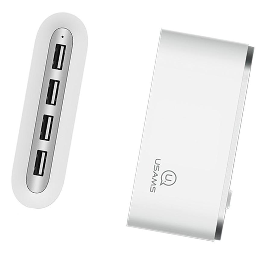 USB Хаб USAMS US-SJ238 4в1 USB x 4 Белый (SJ238FX01)