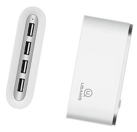 USB Хаб USAMS US-SJ238 4в1 USB x 4 Белый (SJ238FX01), фото 2