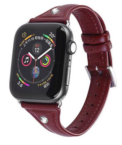 Ремінець HOCO WB05 для Apple Watch Series 4/3/2/1 (38/40 мм) Ocean wave Червоний, фото 2