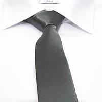 Краватка (галстук) унісекс в десяти кольорах. Графіт сірий.