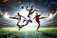 Вафельная картинка на торт спорт футбол 1