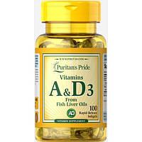Vitamins A & D 5000/400 IU100 Softgels