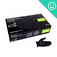 Перчатки черные Нитрилекс Nitrylex Black, размер S, 100 шт. Mercator Medical (Poland)