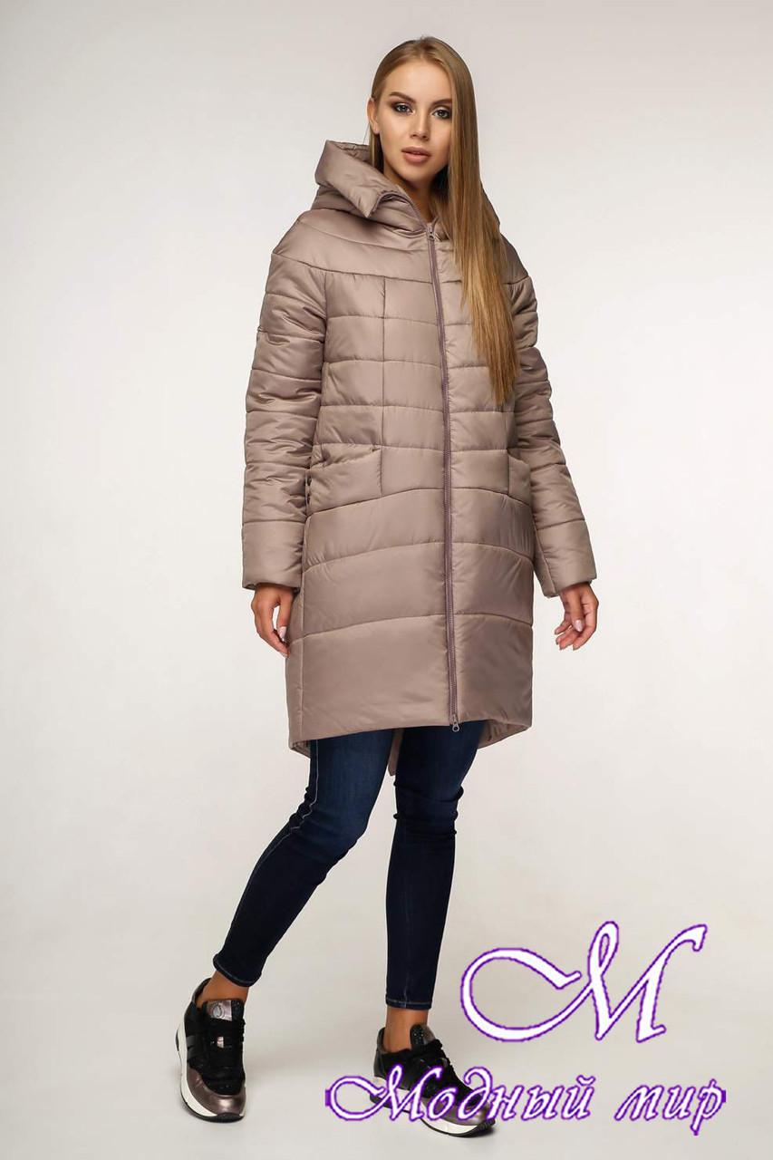 Зимняя теплая куртка женская (р. 44-58) арт. 1148 Тон 100