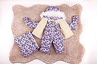 Детский зимний костюм тройка, на овчине, 3 в 1,много расцветок